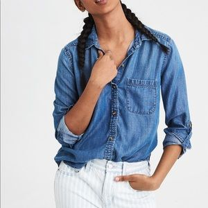AEO Denim Button Down Shirt